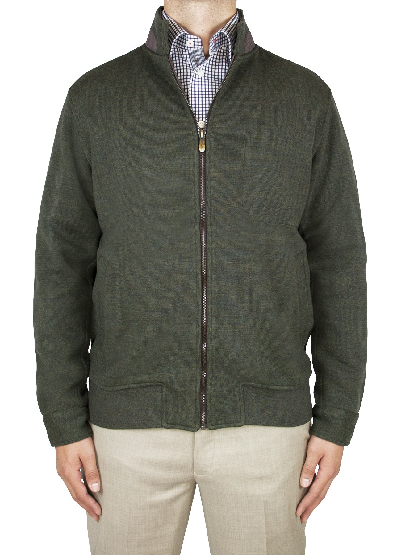 "Aristo 18 ""Heath"" Full Zip Knit Jacket - Wool/Cotton"