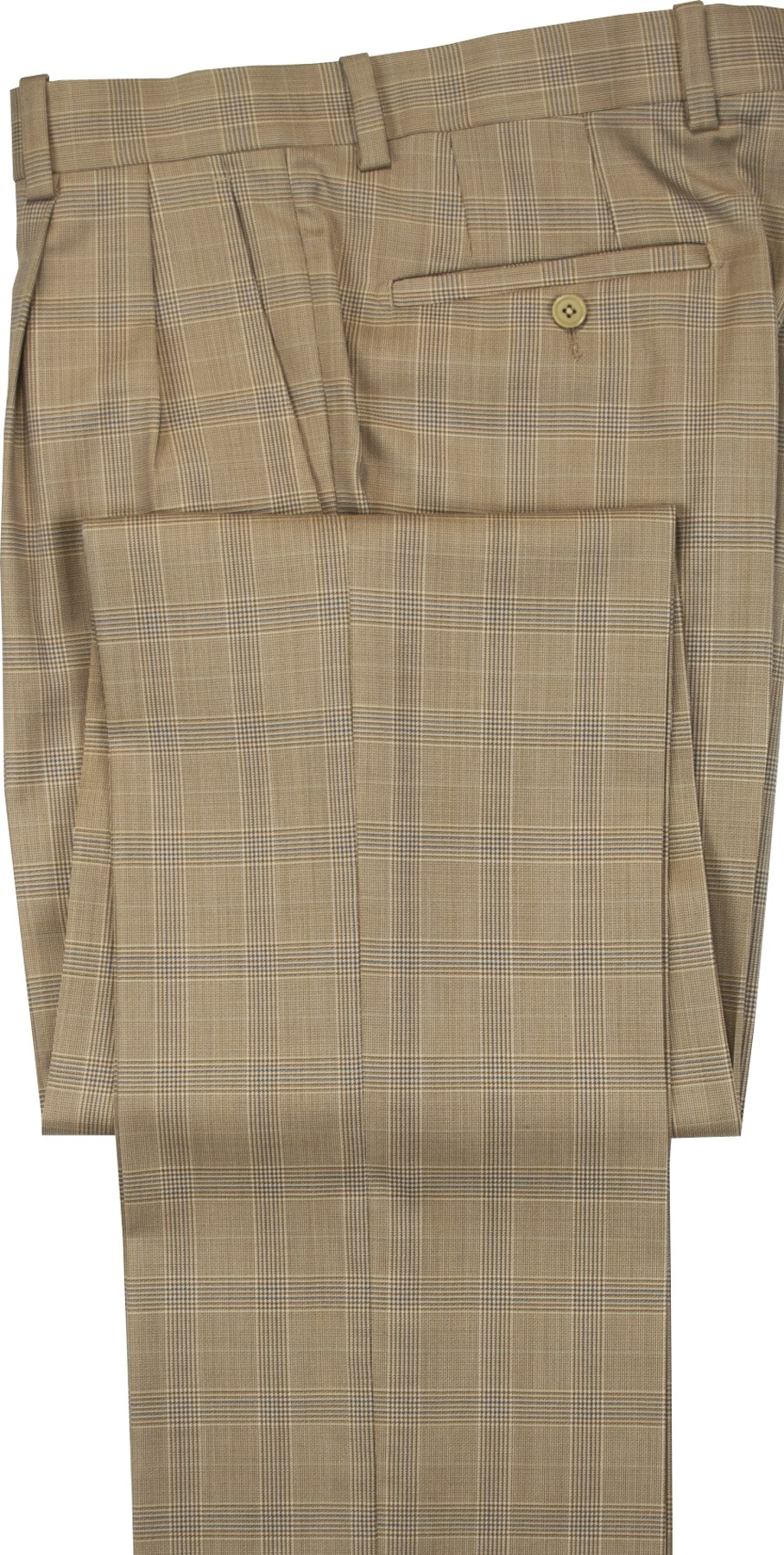 "Aristo 18 ""Aberdeen"" Pleated Trouser - Luxury Wool Plaids"