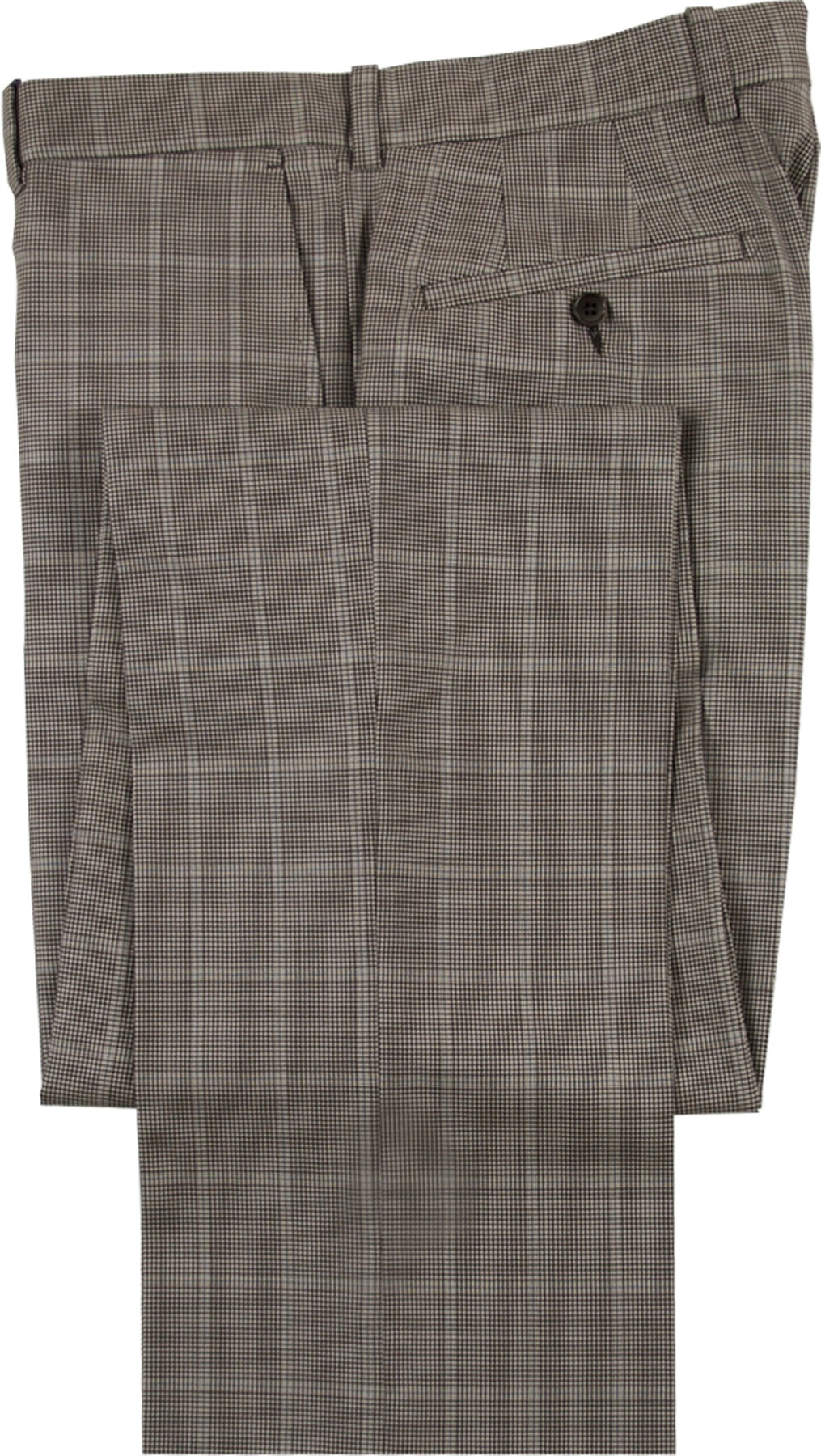 """Aristo 18 """"Stirling"""" Flat Front Trouser - Luxury Wool Houndstooths"""