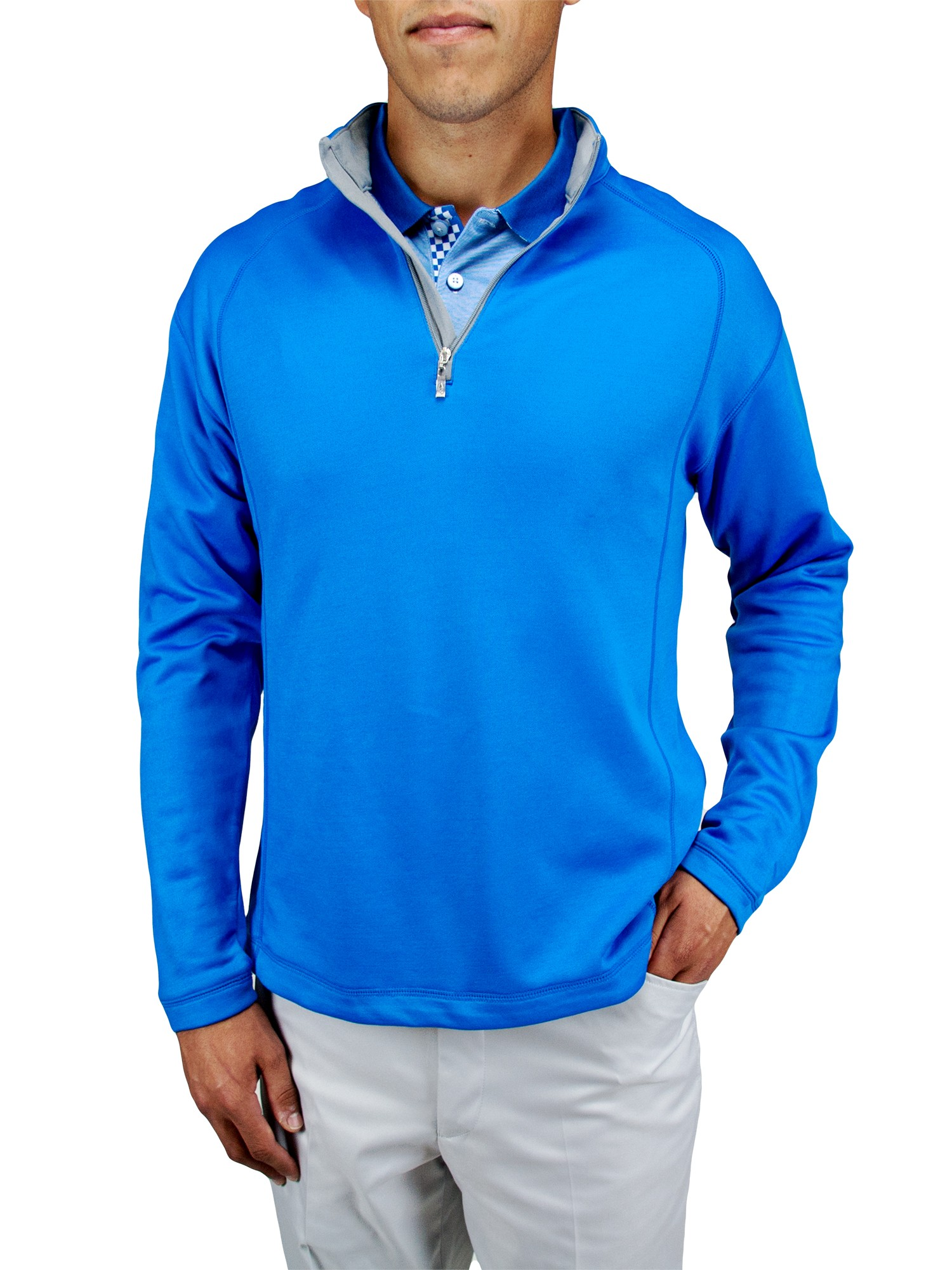 "A-18 ""Easton"" 1/4 Zip Mock Sweater - Hybrid-Tech"