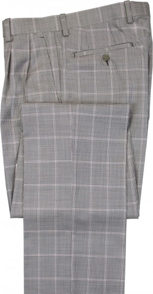 "Aristo 18 ""Aberdeen"" Pleated Trouser - Luxury Wool Houndstooths"