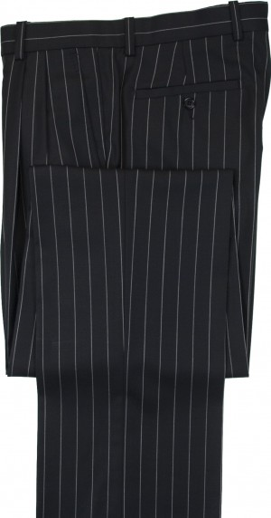 "Aristo 18 ""Aberdeen"" Pleated Trouser - Luxury Wool Stripes"