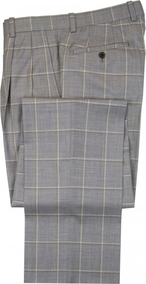 "Aristo 18 ""Aberdeen"" Pleated Trouser - Luxury Wool Windowpanes"