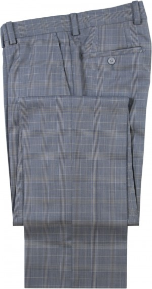 "Aristo 18 ""Stirling"" Flat Front Trouser - Luxury Wool Plaids"