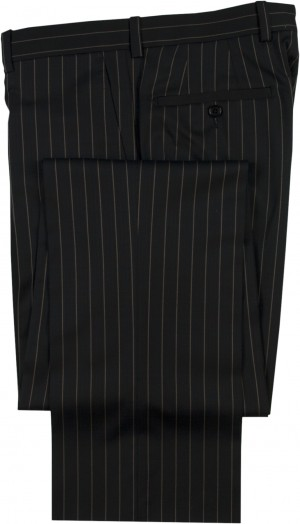 "Aristo 18 ""Stirling"" Flat Front Trouser - Luxury Wool Stripes"