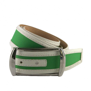 "Betenly Golf ""Palm Beach"" Tech Belt - Leather/Nylon Insert"