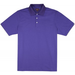 "Aristo 18 ""Savannah I"" Interlock Knit Polo Shirt - Swiss Cotton"