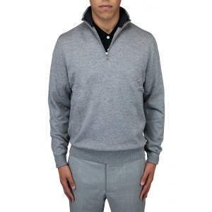"Aristo 18 ""Angus"" 1/4 Zip Mock Sweater - Merino Wool"