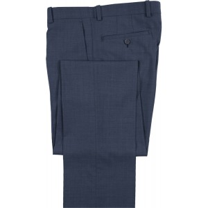 "Aristo 18 ""Stirling"" Micro-Herringbone Flat Front Trouser - Cotton Blend"